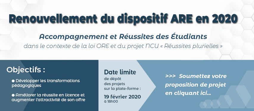 Renouvellement du dispositif ARE en 2020
